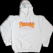 Thrasher - Flames Hd/swt L-white - Skateboard Sweatshirt