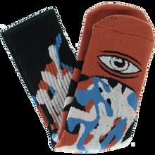 Toy Machine - Barf Sect Crew Socks Rust 1pr - Skateboard Socks