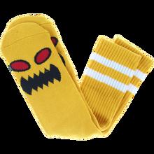 Toy Machine - Monster Face Crew Socks Mustard 1pr - Skateboard Socks