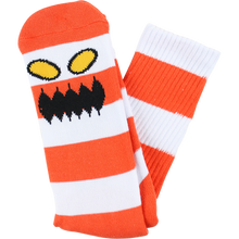 Toy Machine - Monster Big Stripe Crew Socks Red 1pr - Skateboard Socks