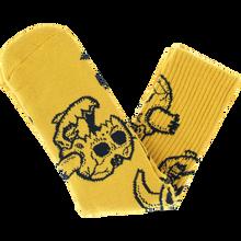 Toy Machine - Monster Skull Crew Socks Mustard 1pr - Skateboard Socks