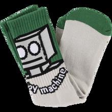Toy Machine - Robot Crew Socks Grey/green 1pr - Skateboard Socks