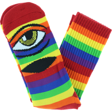 Toy Machine - Sect Eye Rainbow Crew Socks 1pr - Skateboard Socks