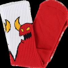 Toy Machine - Sketchy Monster Crew Socks Red/wht 1pr - Skateboard Socks
