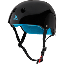 Triple Eight - Certified Sweatsaver Xs/s-black Gloss/blue - Skateboard Helmet