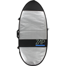 "Zap - Standard Board Bag Xs 46"" Sil W/blue - Surf Boardbag"