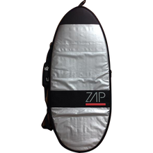 "Zap - Standard Board Bag Xs 46"" Sil W/red - Surf Boardbag"