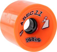 Abec 11 - Zigzags 66mm 89a Orange Plus - (Set of Four) Skateboard Wheels