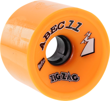 Abec 11 - Zigzags 66mm 86a Orange - (Set of Four) Skateboard Wheels