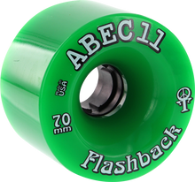 Abec 11 - Flashbacks 70mm 78a Green - (Set of Four) Skateboard Wheels