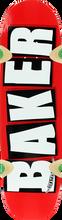 Baker - Brand Logo Cruiser Deck - 8.5 Red / White - Skateboard Deck