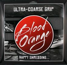 Blood Red Orange - Org X - Coarse Grip Squares - Blk 4pcs10x11 - Skateboard Grip Tape
