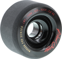 Blood Red Orange - Orange Morgan 70mm 82a Black - (Set of Four) Skateboard Wheels