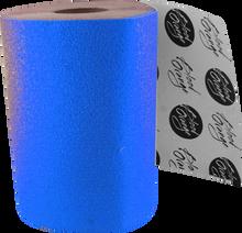 Blood Red Orange - Org X - Coarse Grip Roll - Neon Blue 11x60 - Skateboard Grip Tape