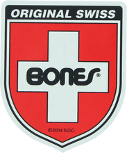 Bones Bearings - Swiss Shield Md Decal - Skateboard Decal