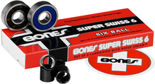 Bones Bearings - Super Swiss 6 Ball (single Set) Bearings - Skateboard Bearings
