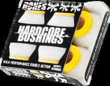 Bones Wheels - Hardcore 4pc Med White / Yellow Bushings - Skateboard Bushings