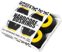 Bones Wheels - Hardcore 4pc Med Black / Yellow Bushings - Skateboard Bushings