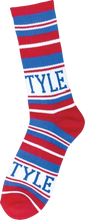 Bro Style - Style Home Team Crew Socks - Red / Blue 1 Pair