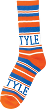 Bro Style - Style Home Team Crew Socks - Org / Blue 1 Pair