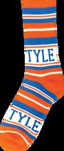 Bro Style - Style Home Team Crew Socks - Org / Blue 1 Pair