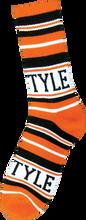 Bro Style - Style Home Team Crew Socks - Org / Blk 1 Pair