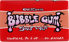 Bubble Gum - Gum Original Tropical Single Bar - Surfboard Wax