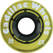 Cadillac - 56mm Beer Cl.yellow - (Set of Four) Skateboard Wheels