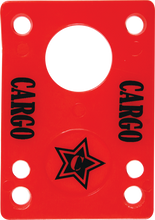 "Cargo - Shock Pad 1 / 8"" Red Single - Skateboard Riser"