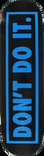 Consolidated - Don't Do It Deck - 8.5 Blk / Blu - Skateboard Deck