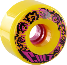 Cult - Classic 70mm 80a Yellow - (Set of Four) Skateboard Wheels