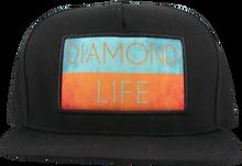 Diamond - Life Flag Hat Adj - Black Snapback