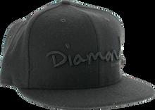 """Diamond - Og Script Hat 7 - 5 / 8"""" Black"""
