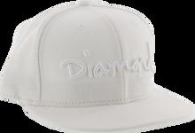 """Diamond - Og Script Hat 7 - 7 / 8"""" White"""