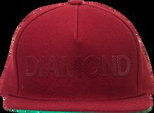 Diamond - Team Hat Adj - Red Snapback