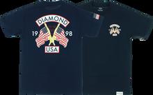 Diamond - Diamond Usa Ss S - Navy - Skateboard Tshirt