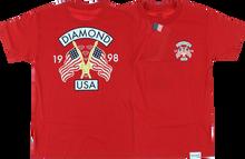 Diamond - Diamond Usa Ss S - Red - Skateboard Tshirt