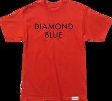 Diamond - Blue Ss S - Red / Blk - Skateboard Tshirt