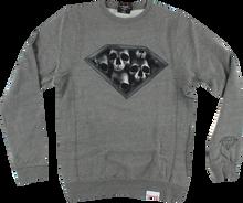 Diamond - Dmnd Skulls Crew / Swt S - Heather Grey - Skateboard Sweatshirt