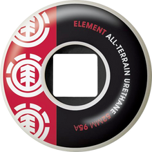 Element - Section 52mm Wht Blk / Red 95a At Ppp - (Set of Four) Skateboard Wheels