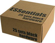 """Essentials - (25 k) Black 1"""" Hardware Ppp"""