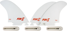 Fin-s - - S Production Set Tv - 1 White 3 Fins / 3 Boxes - Surfboard Fins