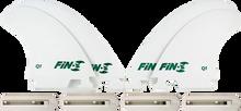 Fin-s - - S Production Set Q - 1 Quad White 4 Fins / 4 Boxes - Surfboard Fins