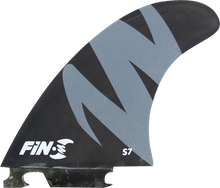 Fin-s - - S S - 7 Honeycomb Black / Grey 3 Fins - Surfboard Fins