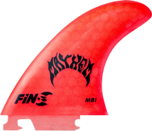 Fin-s - - S Mb - 1 Honeycomb Neon Red 3 Fins - Surfboard Fins