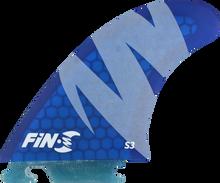 Fin-s - - S S - 3 Honeycomb Blue 3 Fins - Surfboard Fins