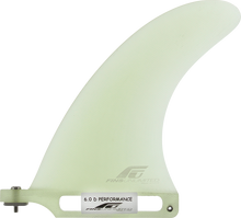 """Fins Unlimited - Unlimited D Performance 6"""" Clear Fin - Surfboard Fins"""