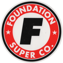 Foundation - Super Co Circle F Decal Single - Skateboard Decal