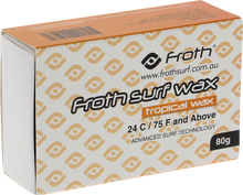 Froth - Surf Wax Single Bar Tropical / Basecoat - Surfboard Wax