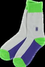 Girl - Og Crew Socks Grey ur / Grn Single Pair